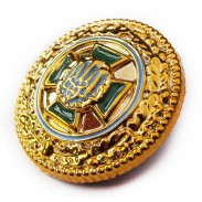 Beret / Cap Badge of Ukraine Border Guard 2011