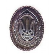 Ukrainian Cap Subdued Badge (plastic) for Generals and High Officers #1