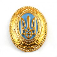 Ukrainian Cap Plastic Badge for Generals and High Officers #1