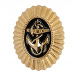 Russian Naval Metal Gold Badge