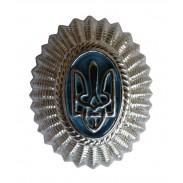 Ukraine Police / Border Guard Officer Hat / Cap / Beret Badge #4