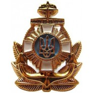Ukrainian Navy Officer Hat / Cap Badge (plastic) #2