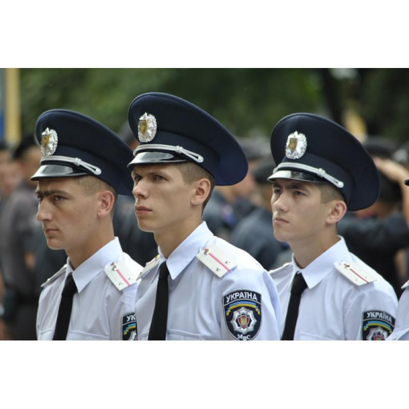 Ukrainian Police Hat Cap Badge