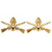 Ukrainian Mechanized Forces Gold Insignia. Pair