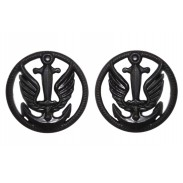 Ukrainian Marine Infantry Subdued Insignia. Pair