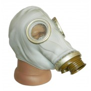 Soviet Russian Military Black Gas Mask GP - 5