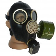 Soviet Russian Black Gas Mask GP - 7