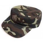 Ukraine Army Woodland Camo Cap with Officer badge. Style № 2