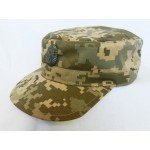 Ukraine Army New Digi Camo Cap with Officer badge. Model 2014