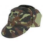 Ukraine Army Woodland Camo Cap with Officer badge. Style # 1