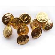 Soviet Army Metal Buttons x 10