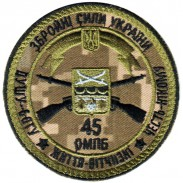 45th Separate Motorized Infantry Brigade Subdued Patch Ukraine. VELCRO