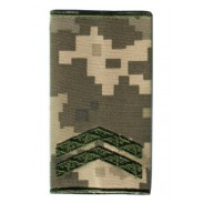 Corporal Ukraine Army Combat Slide Epaulet