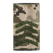 Staff Sergeant Ukraine Army Combat Slide Epaulet