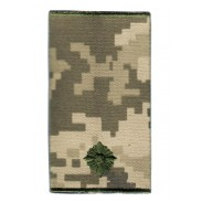 Second Lieutenant Ukraine Army Combat Slide Epaulet