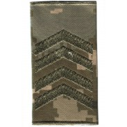Ukraine Army Combat Slide New Camo Epaulet. Senior sergeant